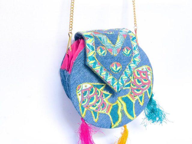 Manjusha Handmade Denim Sling Bag