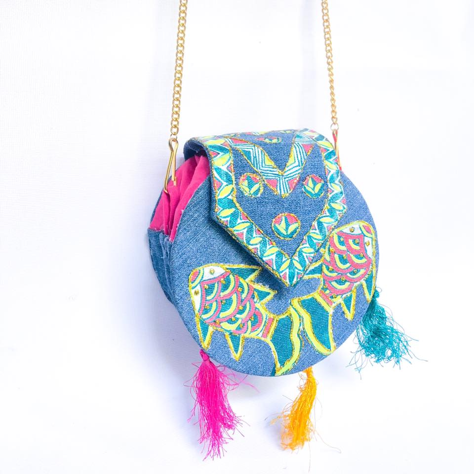 Manjusha Handmade Denim Sling Bag