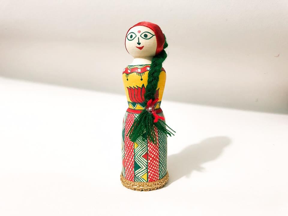 Manjusha Handmade Wooden Doll