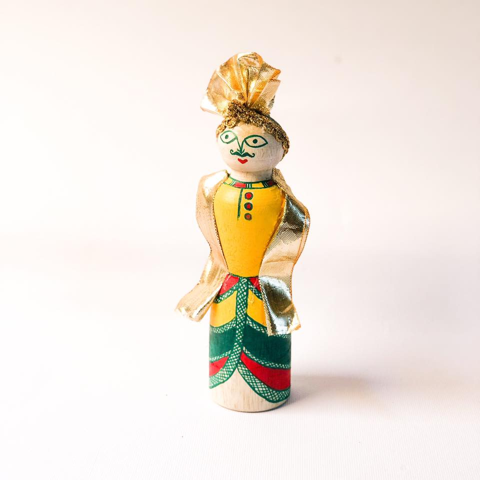 Manjusha Handmade Wooden Groom