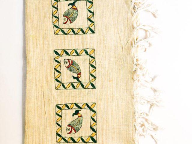 Manjusha Art Tasar Silk Handmade Dupatta.